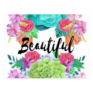 美しい花のカスタムな水彩画カード ポストカード
