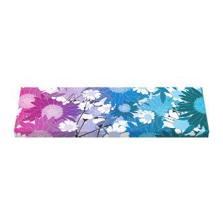美しい花のパターン(の模様が)ある方向キャンバス キャンバスプリント