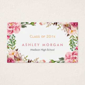 美しい花の大学院生の卒業 名刺