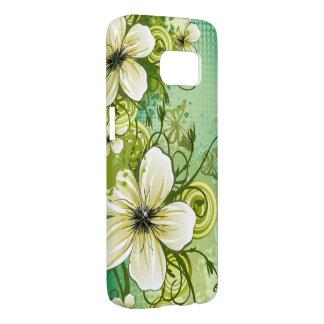 美しい花の抽象芸術の渦巻のベクトル芸術 SAMSUNG GALAXY S7 ケース