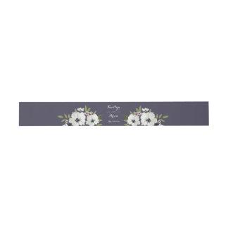 美しい花の招待状用帯-紫色 招待状ベリーバンド