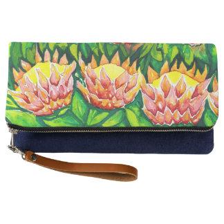 美しい花の水彩画のクラッチ・バッグ クラッチバッグ