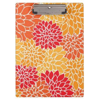 美しい花の用箋挟 クリップボード