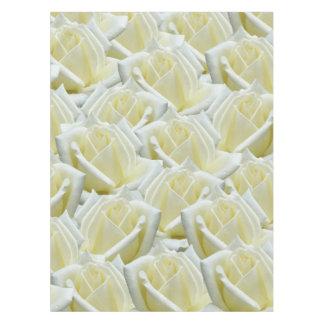 美しい花の白いバラの写真のデザイン テーブルクロス