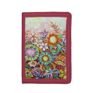 美しい花の芸術の財布