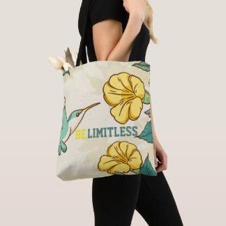 美しい花を持つBelimitless-のぶんぶんいう鳥 トートバッグ
