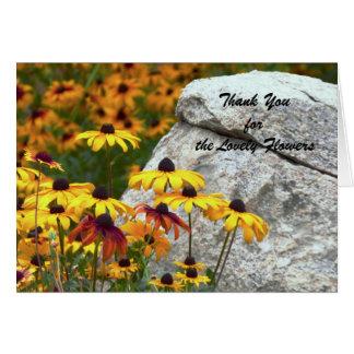美しい花を、黄色い花ありがとう カード