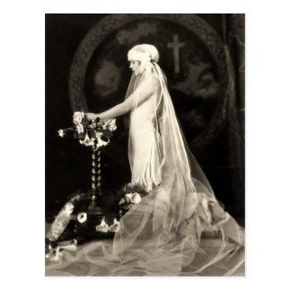 美しい花嫁のフランス人の郵便はがき ポストカード