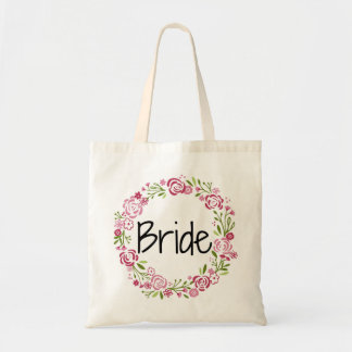 美しい花嫁の花柄のトート トートバッグ