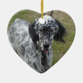 美しい英国セッター犬 セラミックオーナメント