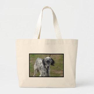 美しい英国セッター犬 ラージトートバッグ
