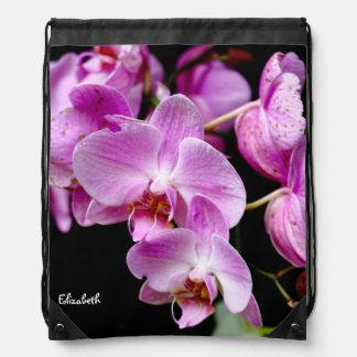 美しい蘭のバックパック ナップサック