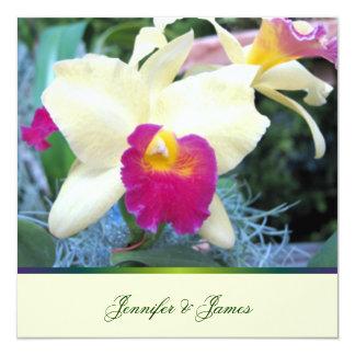 美しい蘭の結婚式招待状 カード