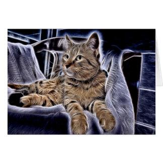 美しい虎猫 カード