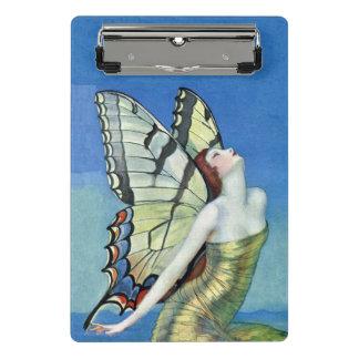 美しい蝶アールデコの妖精の金服 ミニクリップボード
