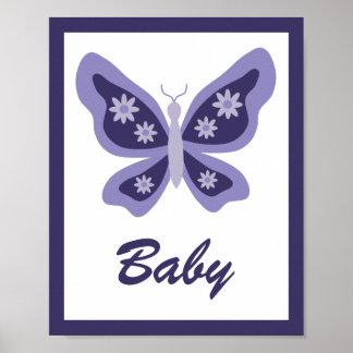 美しい蝶子供部屋 ポスター