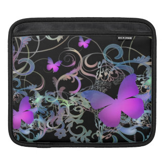 美しい蝶渦巻 iPadスリーブ