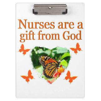 美しい蝶看護のデザイン クリップボード