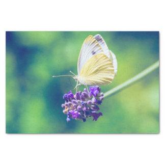 美しい蝶紫色の花の自然の景色 薄葉紙