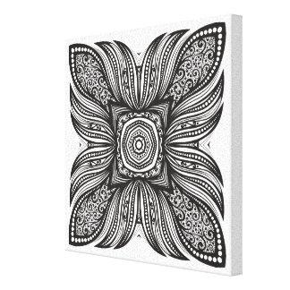 美しい装飾の正方形の落書き6 キャンバスプリント