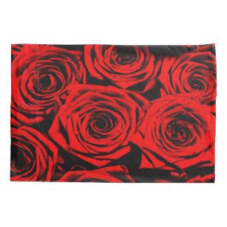 美しい赤いバラの静物画のエアブラシの芸術 枕カバー