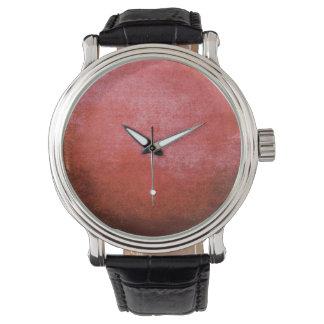 美しい赤の抽象芸術の都市グランジでクールな腕時計 腕時計