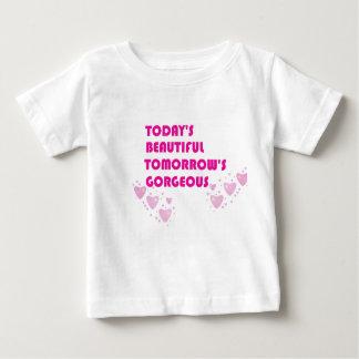 美しい赤ん坊愛今日明日豪華 ベビーTシャツ
