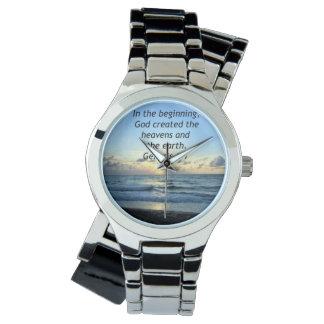 美しい起源の1:1の日の出の写真のデザイン 腕時計