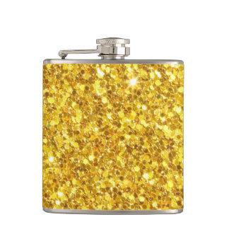 美しい輝きの黄色のグリッターパターン フラスク