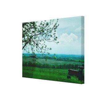 美しい農業の景色の写真撮影のキャンバス キャンバスプリント