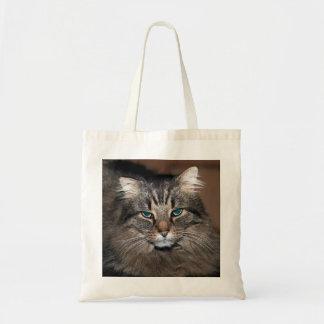 美しい長い髪の虎猫猫のポートレート トートバッグ