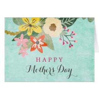 美しい開花の母の日の挨拶状 カード