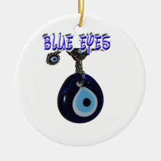 美しい青い目 セラミックオーナメント