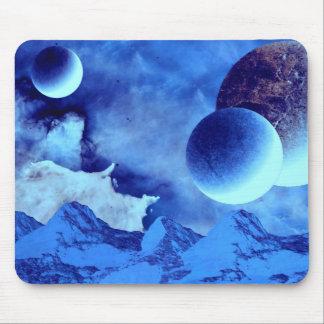 美しい青のエイリアンの世界 マウスパッド