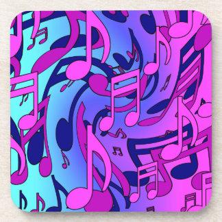 美しい音楽活発でカラフルな音楽的なパターン コースター