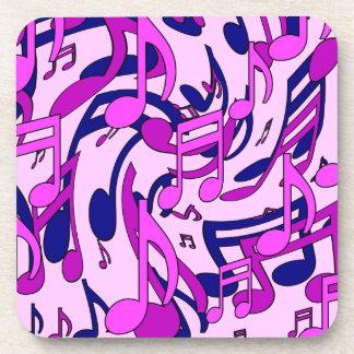 美しい音楽活発なピンクの音楽的なパターン コースター