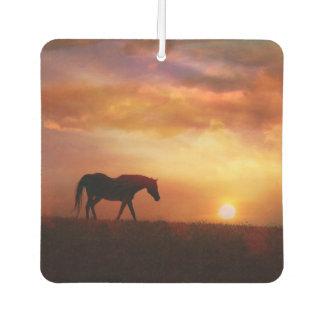 美しい馬および日の出車の芳香剤 カーエアーフレッシュナー