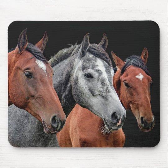 美しい馬のポートレート。 馬の顔のクローズアップ マウスパッド