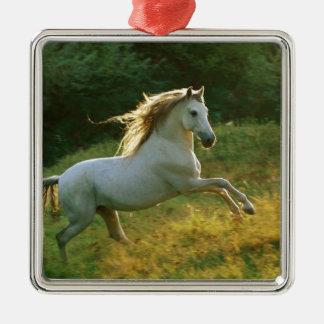 美しい馬のランニング メタルオーナメント