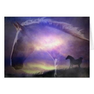 美しい馬の芸術のバースデー・カード カード