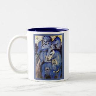 美しい馬フランツ・マルク-青いライダー ツートーンマグカップ