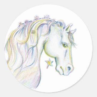美しい馬 ラウンドシール