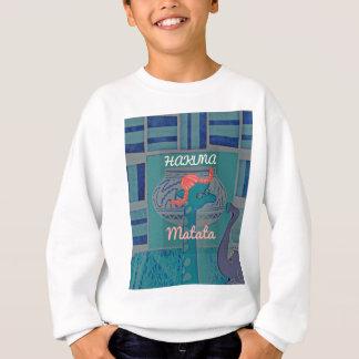 美しい驚かせるかわいくガーリーでおもしろいなキリンのグラフィック スウェットシャツ