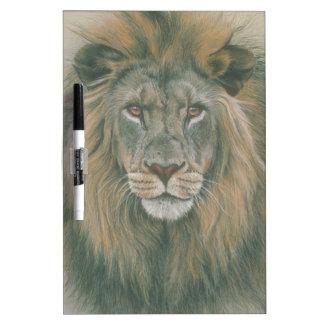 美しい鬣を搭載するオスのライオン ホワイトボード