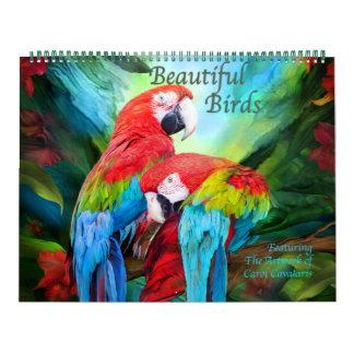 美しい鳥の芸術のカレンダー カレンダー
