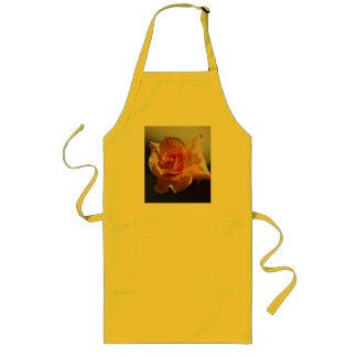 美しい黄色バラ ロングエプロン