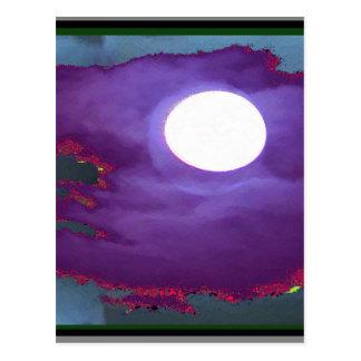 美しい   月光の空 ポストカード