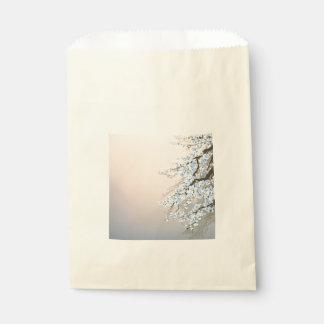 、美しい、淡いブルー手塗り、桜tr フェイバーバッグ