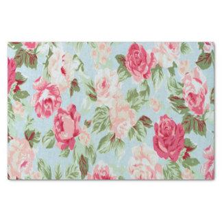 、美しい、花のヴィンテージ、ビクトリア時代の人、ぼろぼろのおもしろいピンク 薄葉紙