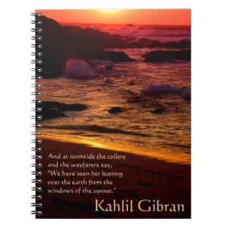 美しい- Kahlil Gibran著予言者 ノートブック